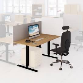 Arbetsplats Bord + Stol + Bordsskärm Ek