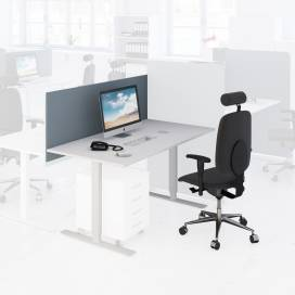 Arbetsplats Bord + Stol + Bordsskärm Ljus