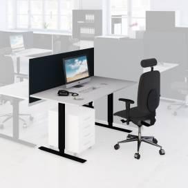 Arbetsplats Bord + Stol + Bordsskärm mörk