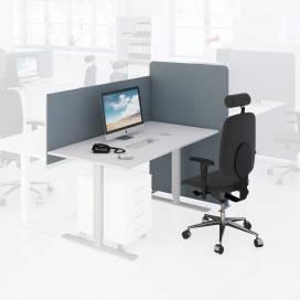 Arbetsplats Bord + Stol + Bordsskärm + Golvskärm Ljus