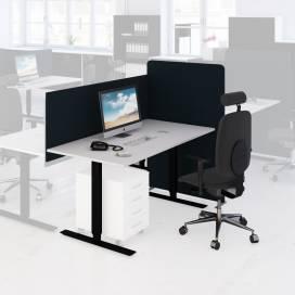 Arbetsplats Bord + Stol + Bordsskärm + Golvskärm Mörk