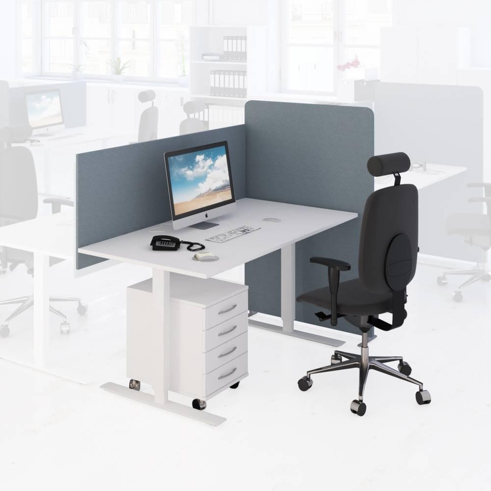 Höj och sänkbara bordsskärmar för kontoret | Byggkatalogen