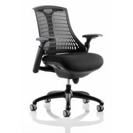 Piero, Designstol med svart ram - Svart ryggstöd