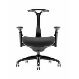 Piero, Designstol med svart ram - Blått ryggstöd