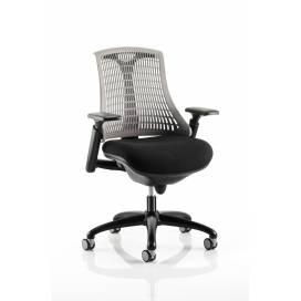 Piero, Designstol med svart ram - Grått ryggstöd