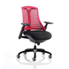 Piero, Designstol med svart ram - Rött ryggstöd