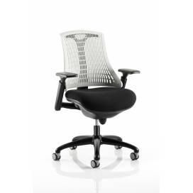 Piero, Designstol med svart ram - Moonstone Vitt ryggstöd