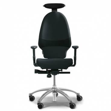 RH Extend 220 Svart ergonomisk kontorstol med nackstöd och armstöd