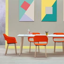 Konferensmöbler 4-10 pers Babila Bord + Babila Stol 2755