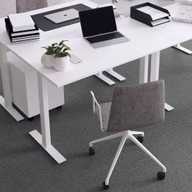 Skrivbord Vaxholm, vitt stativ och vit skiva