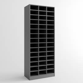 Postfack - mörkgrå
