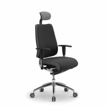 DD Dinamica ergonomisk kontorsstol med hög rygg och nackstöd