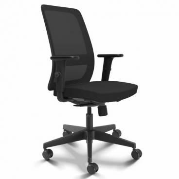 Lidingö, ergonomisk kontorsstol - svart mesh
