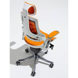 Zephyr, Ergonomisk Kontorsstol - Orange Elastomer