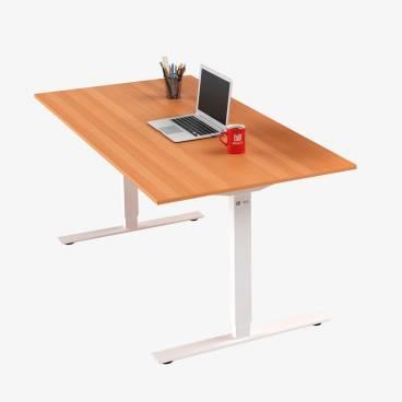 Skrivbord, Vitt stativ och bok skiva