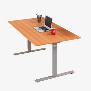 Skrivbord, Silver stativ och bok skiva