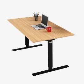 Skrivbord, Svart stativ och ek skiva