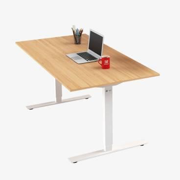 Skrivbord, Vitt stativ och ek skiva