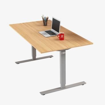 Skrivbord, Silver stativ och ek skiva
