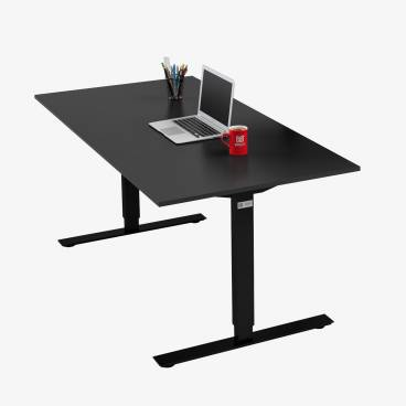 Skrivbord, Svart stativ och svart skiva