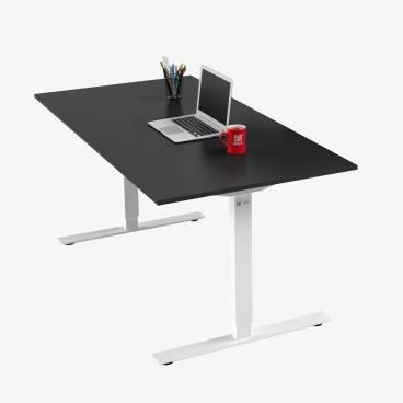Skrivbord, Vitt stativ och svart skiva