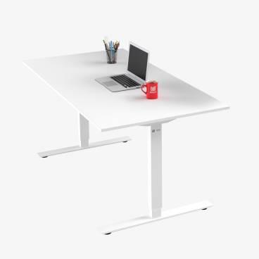 Skrivbord, Vitt stativ och vit skiva
