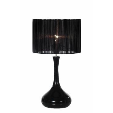 Globen Bordslampa ENZO svart organza