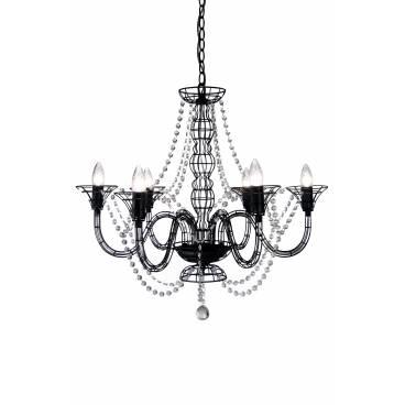 Globen Taklampa WIRE svart luffararb
