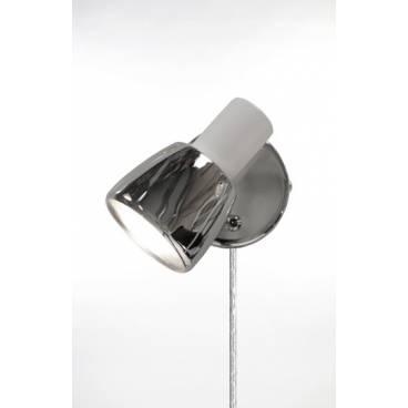 Globen Vägglampa HUGO 1 vit/krom