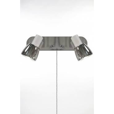 Globen Vägglampa HUGO 2 vit/krom