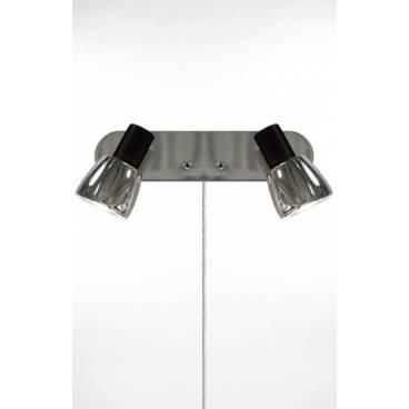 Globen Vägglampa HUGO 2 svart/krom