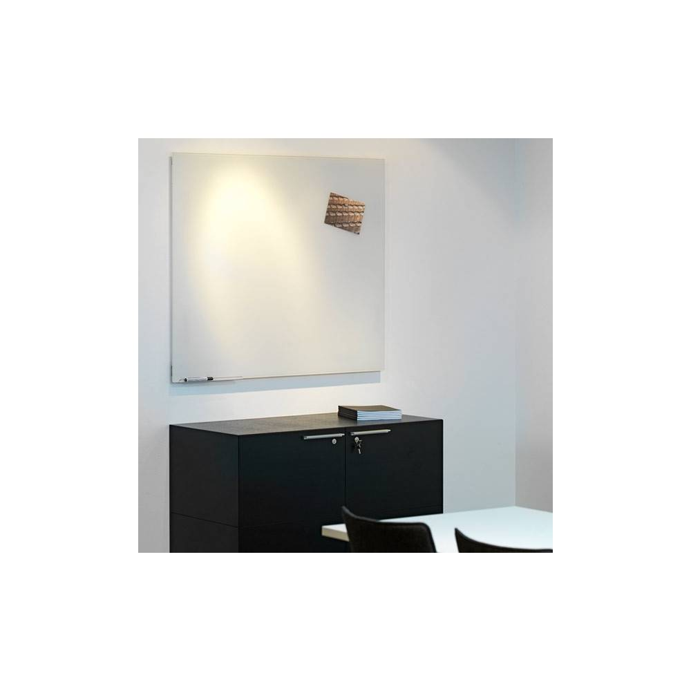 Nykomna MagVision magnetisk glasskrivtavla optiskt vit - Elite-Kontorsmöbler VM-24