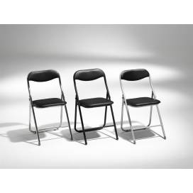Combo Fällbar Stol - Silvergrå med svart sits