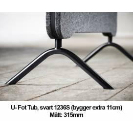U-fot Tub till Lintex Edge Plus Golvskärmar - 315mm