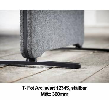 T-fot Arc till Lintex Edge Plus Golvskärmar - 360mm