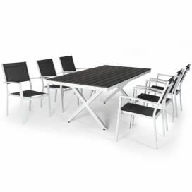 Avanti & Leone Matgrupp 200 cm, vit/grå