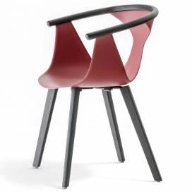 Pedrali Fox Stol 3725, röd/svart
