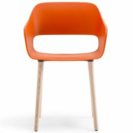 Pedrali Babila Stol 2755, orange/ask