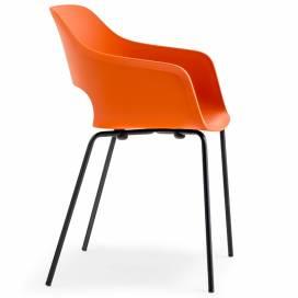 Pedrali Babila Stol 2735 för inomhusbruk, orange/svart