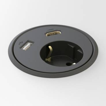 Powerdot - El, HDMI, USB, Svart