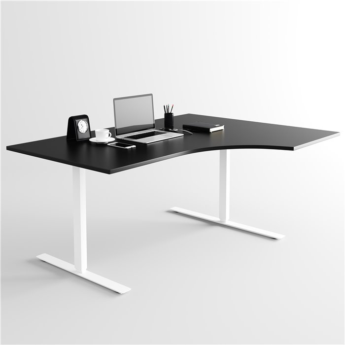 Skrivbord, vitt stativ och vit skiva Elite Kontorsmöbler