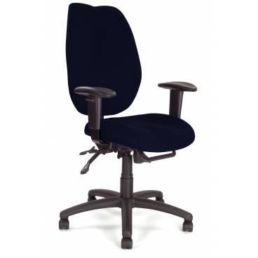 Virginia ergonomisk kontorsstol med justerbara armstöds - Svart