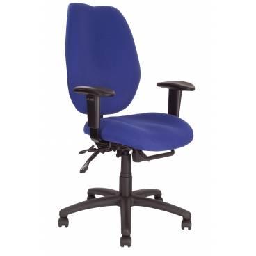 Virginia ergonomisk kontorsstol med justerbara armstöds - Blå