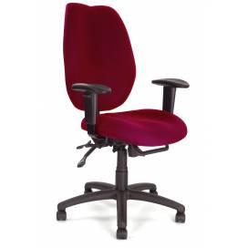 Virginia ergonomisk kontorsstol med justerbara armstöd - Röd