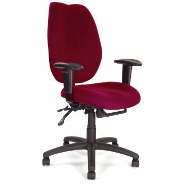Virginia ergonomisk kontorsstol med justerbara armstöds - Mörkröd