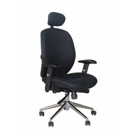 Tampa komfortstol med hög rygg och nackstöd - Svart