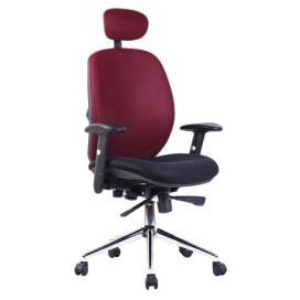 Tampa komfortstol med hög rygg och nackstöd - Mörkröd, Svart