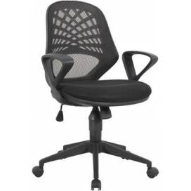 Phoenix kontorsstol med nätrygg - Svart
