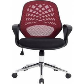 Phoenix kontorsstol med nätrygg - Röd