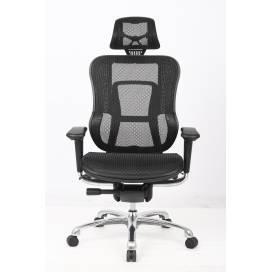 Detroit, multifunktionell ergonomisk stol med hög rygg - Svart